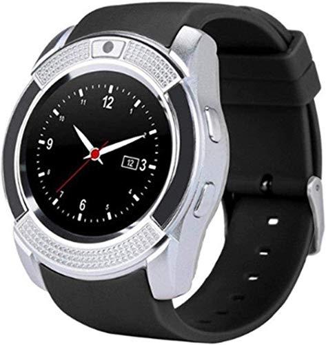 JSL Reloj Inteligente Bluetooth Reloj Inteligente de Pantalla Táctil Reloj con Cámara/Ranura para Tarjeta Sim Impermeable Reloj Inteligente-Sier Mejor Regalo/Rosa-Plata