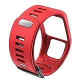 WWXFCA Cinturino di ricambio in silicone di qualità per orologio sportivo TomTom Runer 2/3/2 Cardio/Spark 3 per TomTom 2 Serie 3 (colore cinturino: rosso)