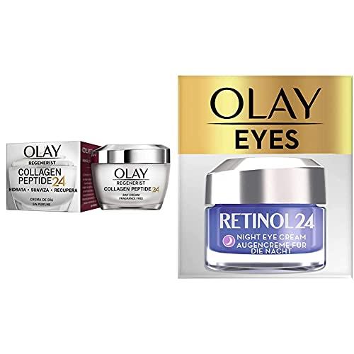 Olay Set Rutina Hidratante Noche Retinol24: Crema noche + Contorno de ojos
