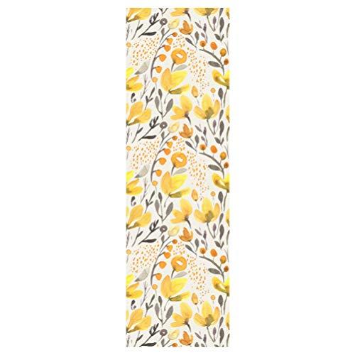Garneck behang, gele bloemen, reliëf, zelfklevend, afneembare vloer, voor meubels, tegels