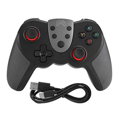 Manette De Jeu, T17 Abs sans Fil Bluetooth Game Handle Joystick Vibration Gyroscope Résistant à l'usure Gamepad Durable pour Switch Game Console(Noir)