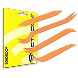 actecom® Kit de 4 Herramientas para Desmontar salpicadero Radio Coche Panel Frontal Herramientas de plástico 4 en 1 para desmontaje de Interior de Coche