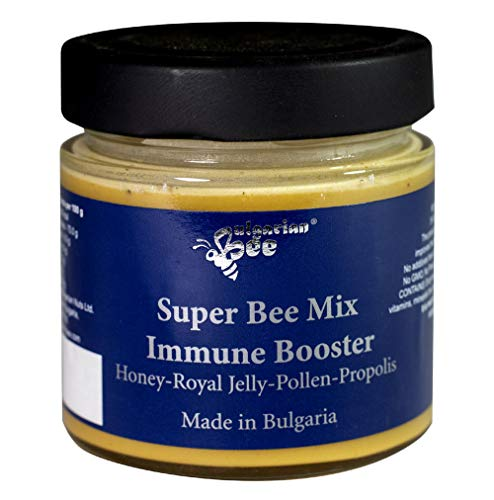 500 g Roher honig gemischt mit Propolis 2%, Pollen 5%, Gelée Royale 1,5%, Bienenwachs, Enzymen, ungeheizt, ohne Zucker