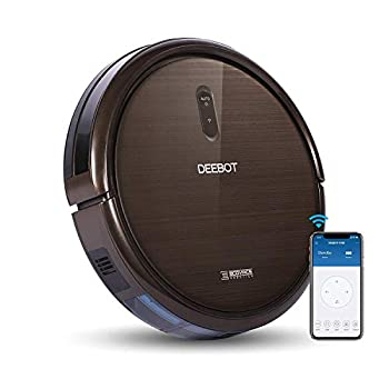 ECOVACS DEEBOT N79S Robotic Vacuum Cleaner with Max Power Suction Upto 110 Min Runtime Hard Floors and Carpets Works with Alexa App Controls Self-Charging Quiet