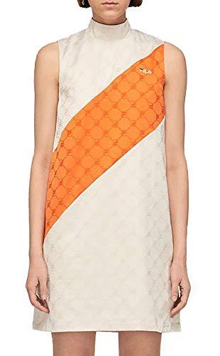 Fila Women Hanako Satin Dress Abito Corto Colore: Eggnog e Mandarin Orange 687631 A493 S