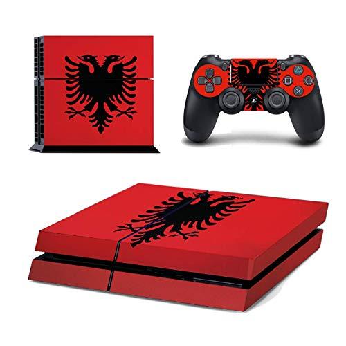 Kompatibel für Playstation 4 Albanien Design PS4 Skin Schutzfolie Faceplate Aufkleber Sticker Cover Folie SET für Konsole + 2 Controller Skins ( Herstellung in Deutschland )