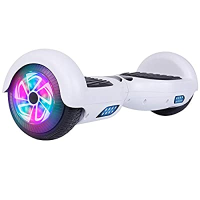 LIEAGLE Hoverboard Self Balancing Scooter Bluetooth Speaker Hover Board for Kids Adults with UL2272 Certified, Wheels LED Lights(A01 White)