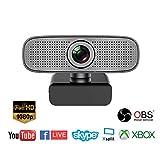 Spedal Full HD Webcam 1080p, Beauty Live Streaming Webcam, computadora portátil cámara para OBS Xbox XSplit Skype Facebook, Compatible para Mac OS Windows 10/8/7