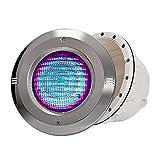 ASPZQ Luz LED Empotrada para Piscina Subacuática Luces Subacuáticas Impermeables Acero Inoxidable 12V Luces De Paisaje IP68 Decoración de Fiesta En El Jardín (Color : Warm Light, Size : 12W)