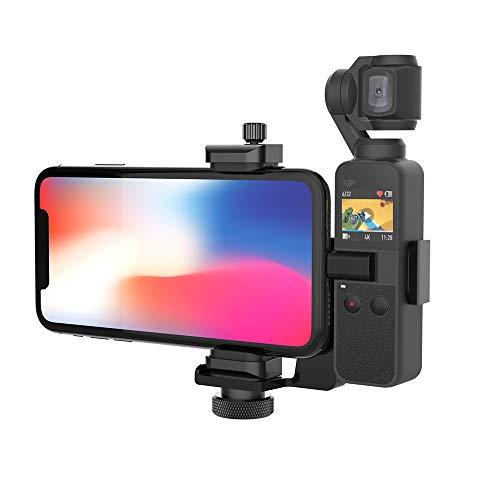 """Smatree Portable Extension Halterung für DJI OSMO Pocket 2 /OSMO Pocket Kompatibel mit Galaxy A7/S9/HUAWEI P20/iPhone X/XR/XS/8/7/6, geeignet für 1/4"""" Standard Screw Selfie Stick/Stativ"""
