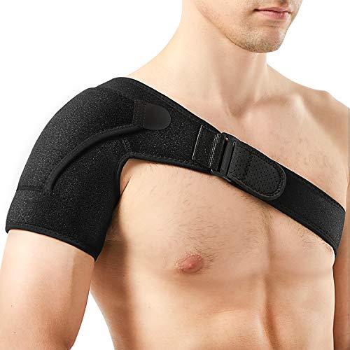 "Shoulder Support Brace, PKSTONE Breathable Neoprene Shoulder Brace for Torn Rotator Cuff, Sprains, Tendonitis, Shoulder Pain, Fit Chest Size 33""- 38"""