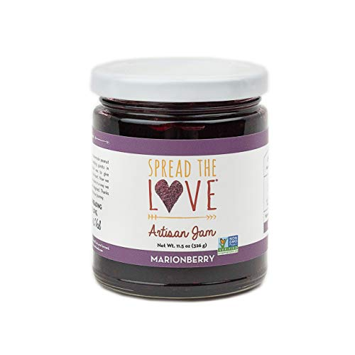 Spread The Love MARIONBERRY Artisan Jam, 11.5 Ounce, All Natural, Vegan, No Preservatives, GMO and Gluten Free, Made in Oregon