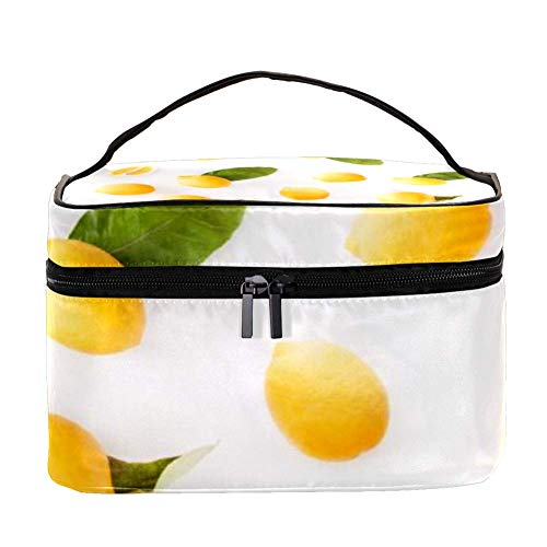 TIZORAX gele citroen met vakantie cosmeticatasje reizen toiletkoffer grote make-up organizer box