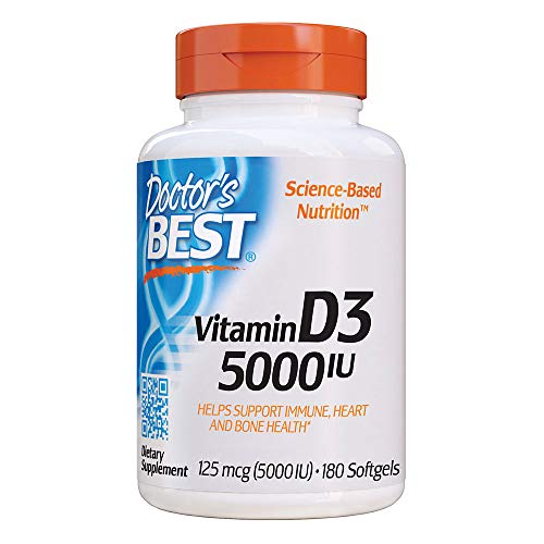Doctor's Best Vitamina D3, 5000 Ui - 180...