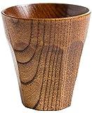 ADIS Tazas de té japonesas de madera natural de azufaifa, tazas de té de madera maciza, taza de café, taza de vino para beber té, café, bebidas calientes, A4