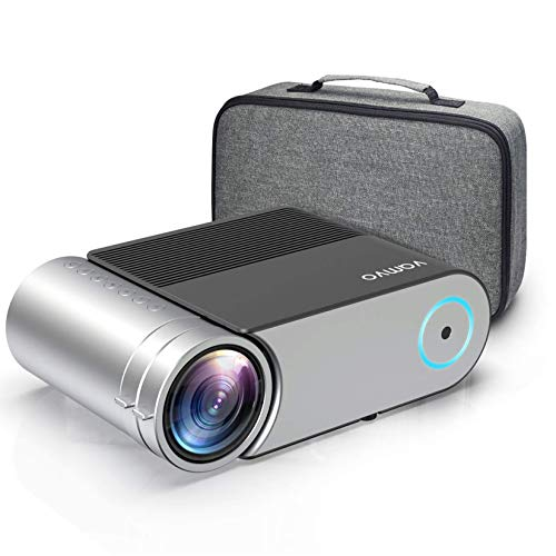 """Projector, Vamvo Mini Projector Support 1080p, Portable Video Projector 5500 Lux with Dolby , Home Cinema Projector 200"""" Display Supported, Compatible with HDMI/VGA/USB/AV, TV Stick, PS4 etc."""