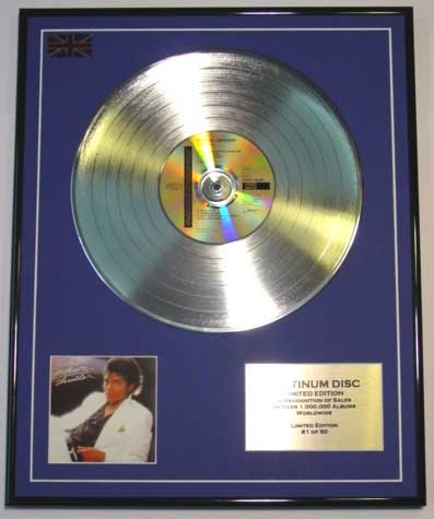 Everythingcollectible Michael Jackson/Limitierte Edition Platin Schallplatte/Thriller