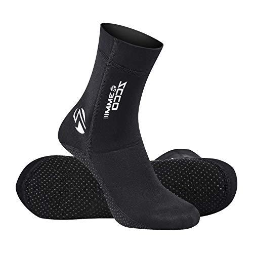 ZCCO Premium Neopren-Socken, 3 mm Wassersocken für Tauchen, Schnorcheln, Strand, Surfen, Schwimmen, Segeln (schwarz, L)