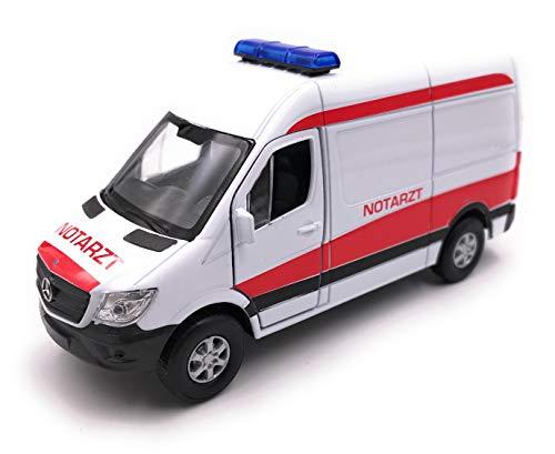 Onlineworld2013 Modellauto Sprinter Notarzt Weiss Auto Maßstab 1:34-39 (lizensiert)