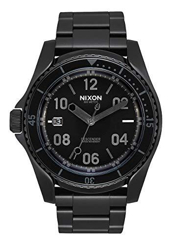 NIXON Descender A959 - All Black/Black Stainless Steel Analog Watch