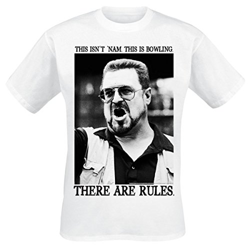 The Big Lebowski Walter - There Are Rules T-shirt blanc XL