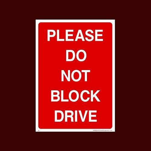 Gelieve niet blokkeren Drive Sticker Teken (P5) - Geen Parkeren, Privé Eigendom, Bezoeker, Klant, Parkeerplaats, Gereserveerd