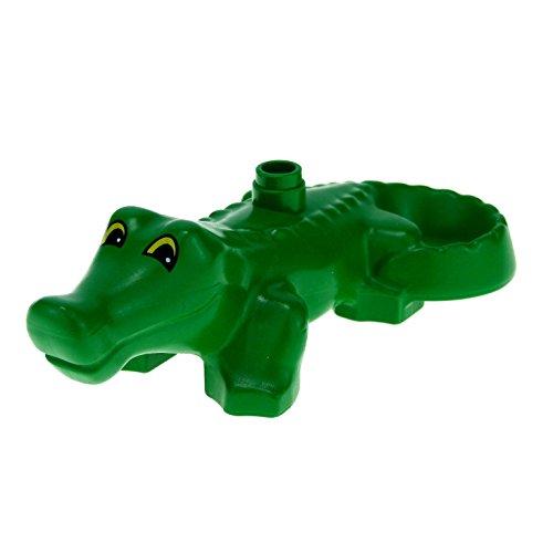 1 Krokodil grün groß Zoo Zirkus Tier Lego Duplo C45