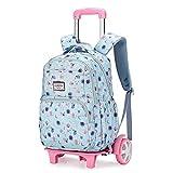 Night K Mochila para niños con carrito para exteriores, impermeable, personalizable, mochila escolar de almacenamiento grande, C-30 x 18 x 42 cm