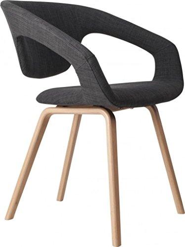 Zuiver flexibler Designer Stuhl FLEX BACK Dunkelgrau