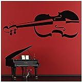 azutura Geige Wandtattoo Musik Wand Sticker Musikinstrumente Wohnkultur verfügbar in 5 Größen und 25 Farben Extraklein Königliche Blau