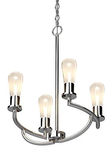 Bernice 3 Light Shaded Chandelier by Volume Lighting