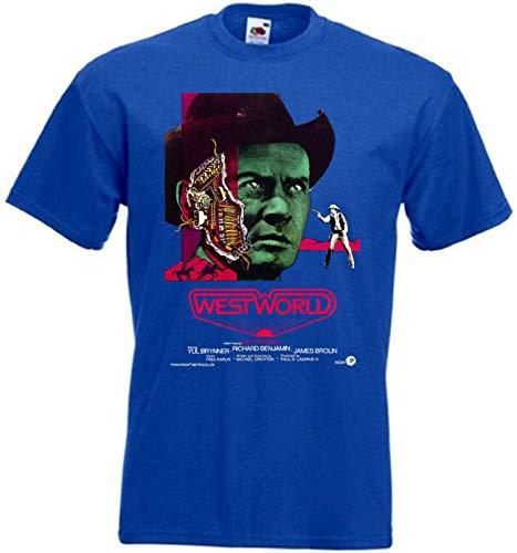Westworld v2 T-Shirt Movie Poster YUL Brynner S-5XL Men's