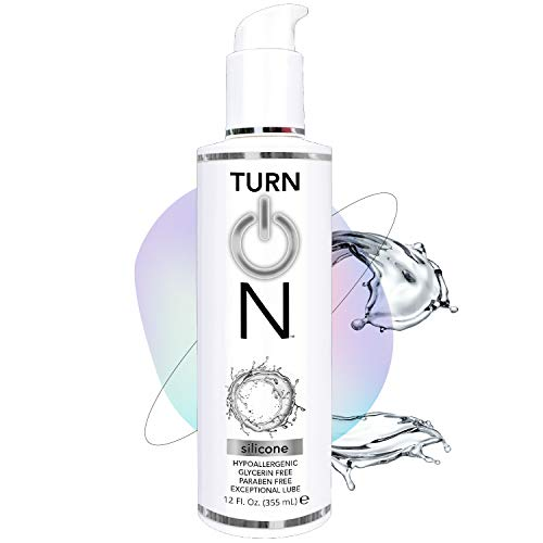 Turn OnSilicone Based Sex Lube 12 Ounce. PremiumPersonalLubricant for Men Women & Couples. More Long Lasting Than Water Based. Condom Safe Hypoallergenic Glycerin Paraben Free PH Balanced Intimacy
