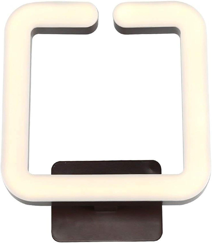 ZHANG NAN ●  Kreative Einfachheit Post-Modern braun Acryl LED Wandleuchte Flur Korridor Schlafzimmer Nachtwandleuchte Nordic Hohe Helligkeit Eisen Energiesparlampe Innenleuchten ●