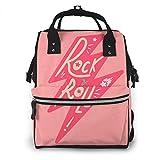 Jojoshop Rock Roll - Mochila de viaje, multifunción, gran capacidad, impermeable y elegante