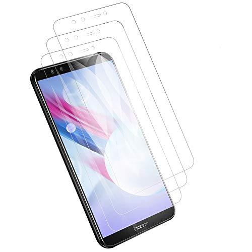 PUUDUU [3 Pack Protector de Pantalla para Huawei Honor 9 Lite,Cristal Templado para Huawei Honor 9 Lite, Vidrio Templado, Dureza 9H, Anti-Rasguños, Sin Burbujas