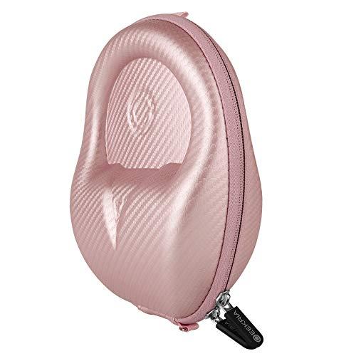 Geekria UltraShell - Funda para auriculares eKíds, iClever, POWMEE, LilGadgets, Mpow, Riwbox para niños, funda rígida de repuesto con espacio para accesorios (oro rosa)