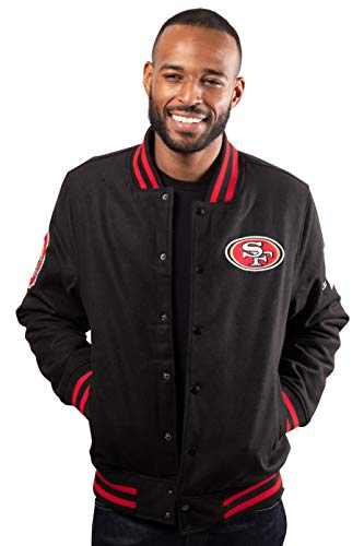 Ultra Game NFL San Francisco 49ers Mens Classic Varsity Coaches Jacket, Alternate Team Color, Small
