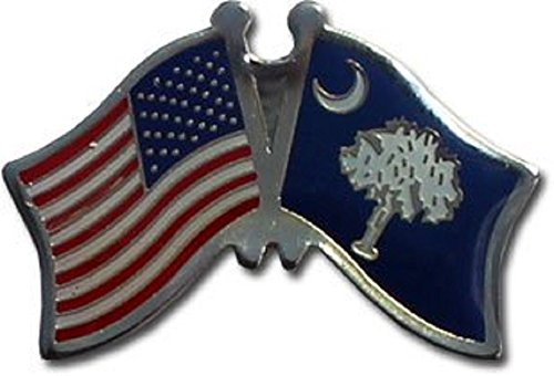 Wholesale Pack of 3 USA American State South Carolina Flag Bike Hat Cap lapel Pin