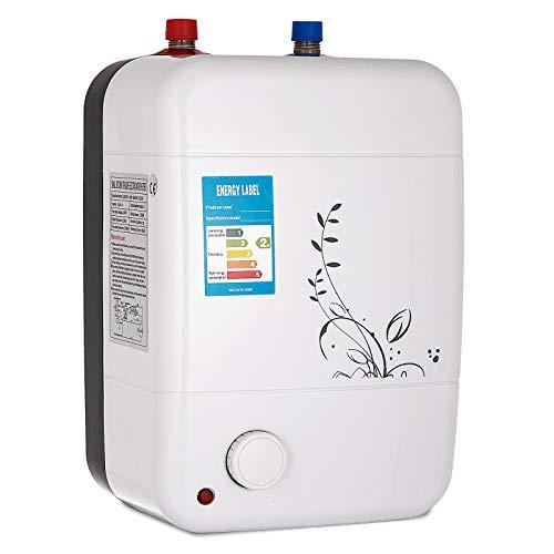 Ukiki Chauffe-eau Électrique Instantané Température Réglable, Cuisine Salle de Bain IPX4 d'étanchéité en Acier Inoxydable Ajustement Température Domestique et Commercial (10L 220V 2KW)