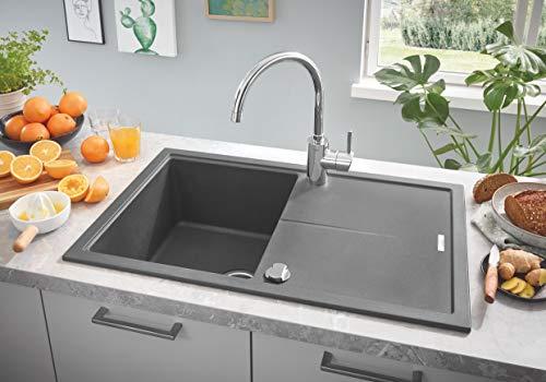 Grohe – Start Küchenarmatur, Schwenkbereich 140°, Easy Exchange Mousseur, Chrom - 2