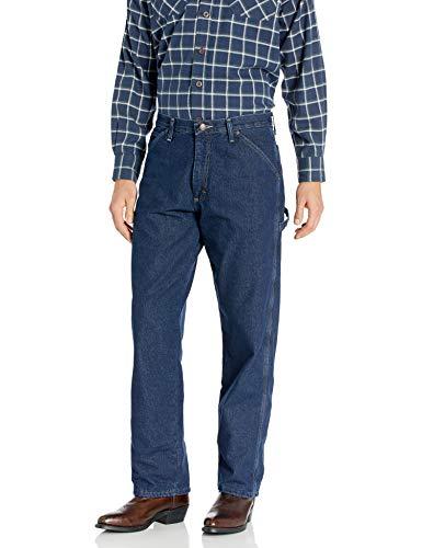 Wrangler Authentics Men's Fleece Lined Carpenter Pant,Dark Indigo,34W X 30L