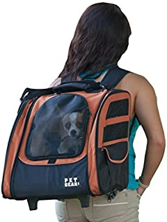 Pet Gear I-GO2 Traveler Roller Backpack for cats and dogs, Copper by Pet Gear