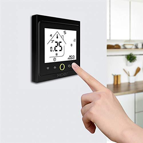 MOES - Termostato intelligente, comando vocale, caldaia a gas, termostato per radiatore WiFi 5 + 2 termostati programmabili, compatibile con Amazon Alexa Google-Home IFTTT