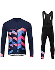 Sports Wear Uglyfrog Conjunto Ciclismo Moda Mujer Invierno/Otoño 20D Cojín Pantalones Larga Thermo Lana Malliot de Ciclismo Ropa de Ciclista Bodies Anti-frío FAXBNMujer02