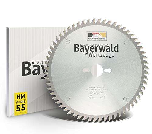 Bayerwald - HM Tischkreissägeblätter - Ø 254 mm x 2,8 mm x 30 mm | Wechselzahn | Kombinebenlöcher für Bosch GTS 10 & PTS 10 (60 Zähne)