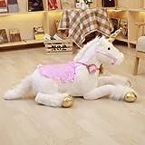Ankepwj Grandes Animales de Peluche acostado Unicornio de Peluche de Juguete Rosa muñeca Buen Regalo Accesorios de fotografía 85cm A