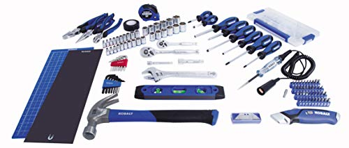 Kobalt 856854 119-Piece Household Tool Kit with Folding Case