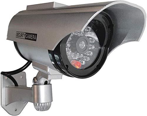 Dummy Kamera Solar Attrappe mit Objektiv mit blinkendem Licht wasserdicht für Innen und Aussen hochwertig