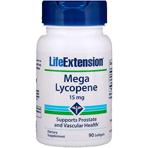 Life Extension Mega Lycopene, 15 Milligram, 90 Softgels (Pack of 2)